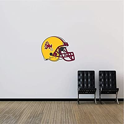 "Arizona State Sun Devils NCAA USA Helmet Logo College Sport Art Wall Decor Sticker 25"" x 19"""