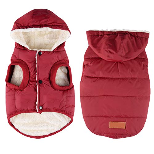 Dog Winter Coat Fleece Dog Hoodie Warm Dog Jacket Cold Weather Pet Apparel for Small to Large Dogs