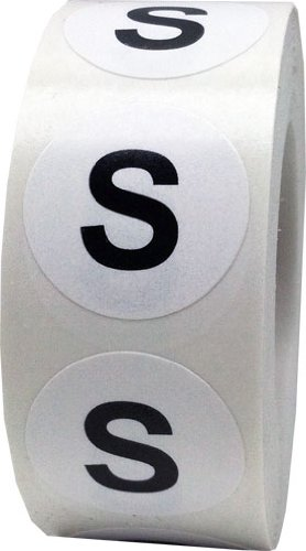 S Clothing Labels Round Circle Stickers For Retail Apparel 3/4 Inch 500 Adhesive Stickers InStockLabels.com