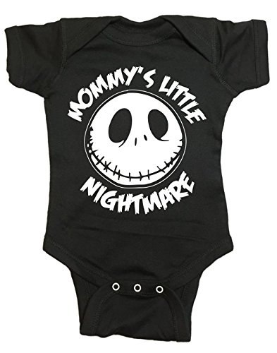 Brain Juice Tees Mommys Little Nightmare The Nightmare Before Christmas Baby One Piece (6 Month, Black) ()