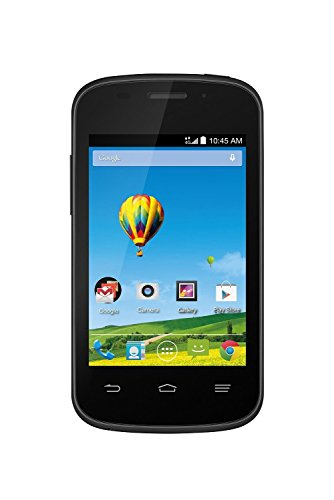 ZTE Zinger Z667T Android GSM Black - No Contract Prepaid Smartphone (Walmart Family Mobile) - Network Locked to Family Mobile Wireless