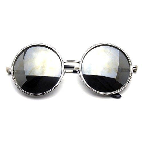 Designer Round Metal Fashion Vintage Inspired Circle Sunglasses - Sunglasses Coachella