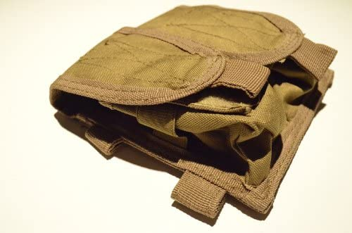 Acid Tactical MOLLE Tactical Magazine Pouch Tan FDE Sand Double Stack Pistol Mag