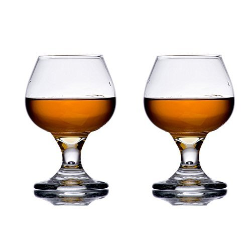 5.5 oz Brandy Glass Libbey 3702 Embassy Snifter or Cocktail Set of 2 w/ Pourer