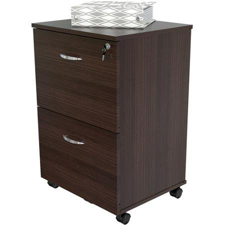 Generic Inval Uffici Collection Commercial Grade 2-drawer Mobile File Cabinet, Espresso-wengue Finish
