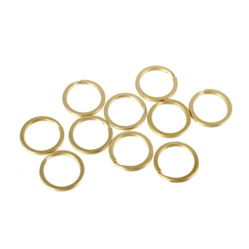 10pcs 20/25/30/35 mm Brass Split Key Rings Chain Bag Charms Clasp Loop Findings DIY - Antique Gold, 20 mm (Split Key Rings 20mm compare prices)