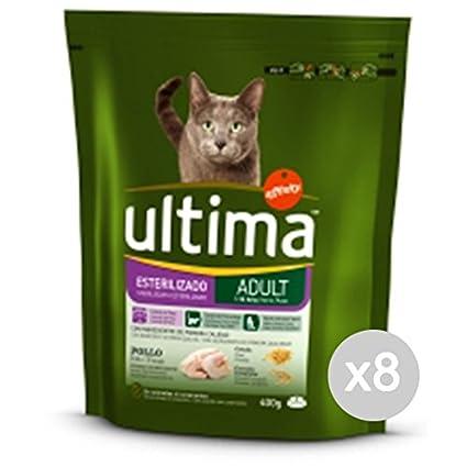 Ultima Juego 8 Gato 205 Croccantini Steril Pollo 400 g Comida para Gatos: Amazon.es: Productos para mascotas