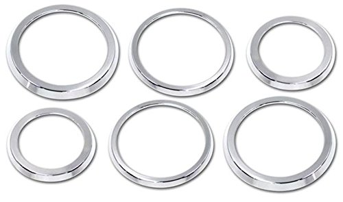 Pirate H20023SC 2003-2007 H2 Hummer SUV & SUT Chrome Billet A/C Vent Trim Rings by Pirate Mfg