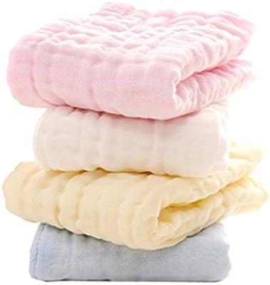 Muslin nouveau-n/é carr/é serviette /épaisse beb/é y ni/ños enfants d/ébarbouillettes bavoirs /écharpe serviette carr/és 4 pack 30x50cm