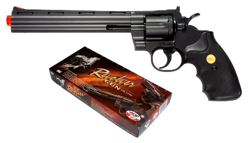 TSD Sports UA941B 8 Inch Spring Powered Airsoft Revolver (Black) ()