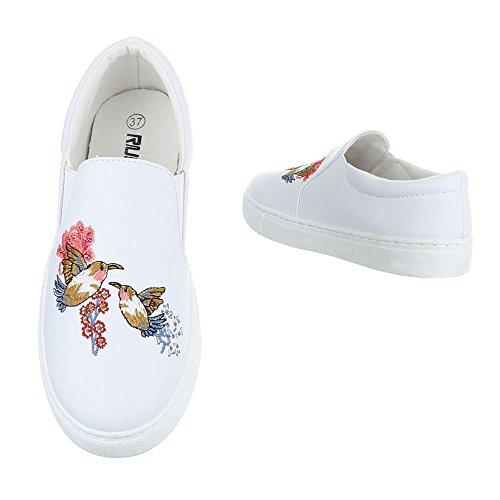Ital-Design - Zapatillas de casa Mujer Weiß