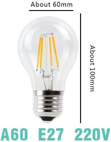Color : Cold White, Emitting Color : ST64 E27 220V YINGDATERUI LED Filament Bulb E27 Retro Lamp 220V E14 Vintage C35 Candle Light Dimmable G95 Globe Lighting COB Home Decor Durable