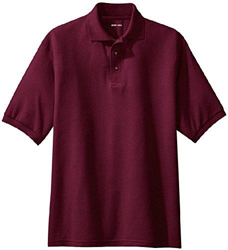 Classic Field Polo - Joe's USA Men's Classic Polo Shirts - Regular Large (41-43) - Maroon