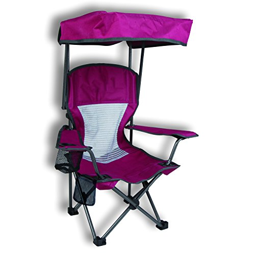 Purple Kid's Folding Chair with Canopy and Durable Carry Bag by Westfield Outdoor