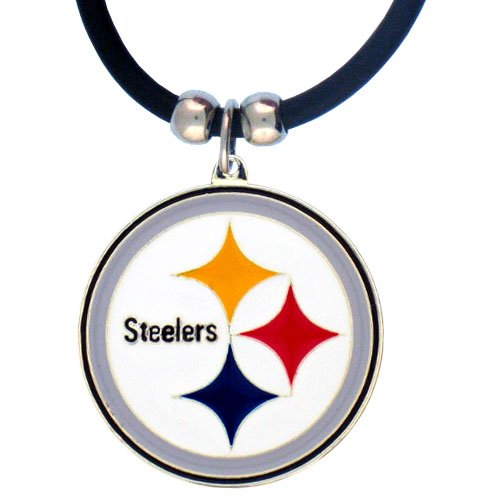 Siskiyou NFL Pittsburgh Steelers Rubber Cord Logo Necklace