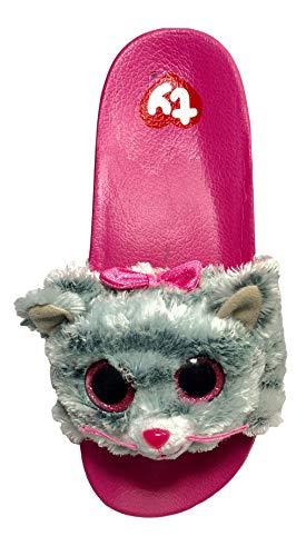 90ae377ae761 Beanie Boo Flip Flop for Girls Kiki Kitty Cat Slider Shoe Slip On Slider  (Large 4 5)