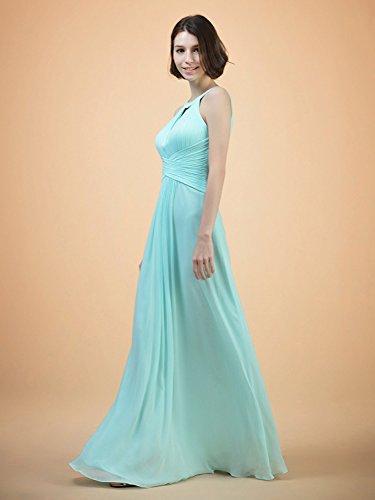 Gowns Dresses Jade Bridesmaid Prom Chiffon Formal Dress Long Maxi Cdress Women's Keyhole Evening nqxPI4Tq1