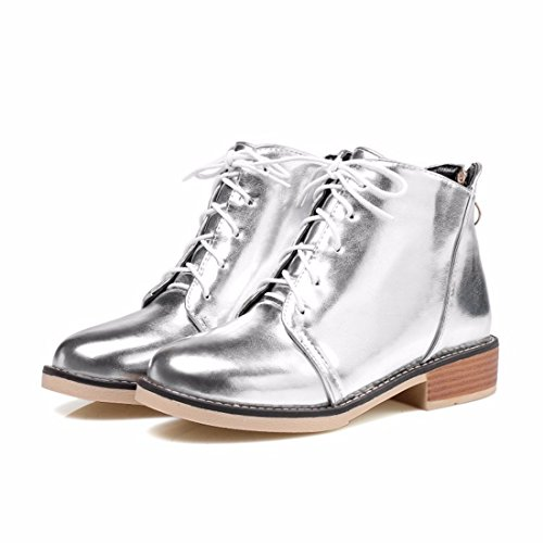 single academy boots big silvery round winter head short boots Autumn boots Martin size CqF07wv