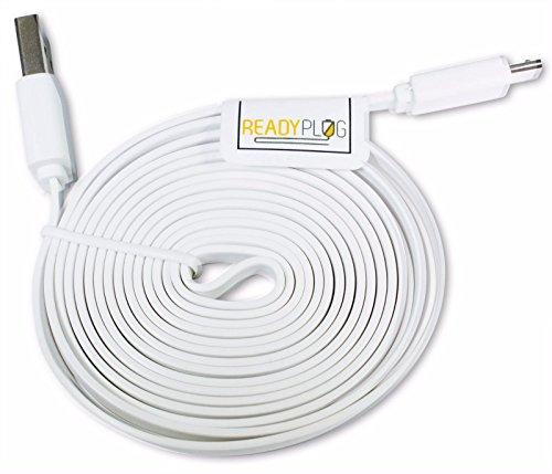 6ft readyplug flat usb cable for amazon echo dot  2nd
