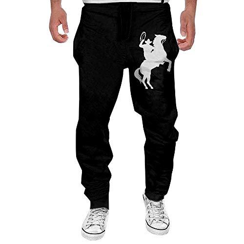 (Men's Cowboy Horse Rider Sport Cotton Jogger Pants,Gym Beam Trousers)