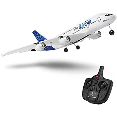 New A380 Airplane 2.4G 3Ch Fixed Wing Outdoor A120-A380 RC Plane Toys (Two Batteries Without Light): Toys & Games