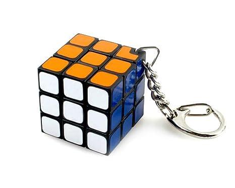3 cm Llavero con Diseño de 3x3 Cubo Mágico Rotatorio ...