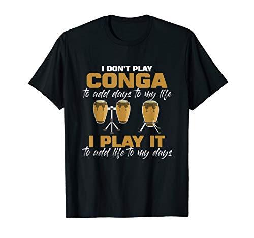- Conga drum Musical Instrument Musician Drum Percussion T-Shirt