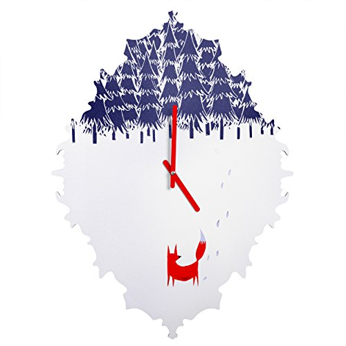 Deny Designs  Robert Farkas, Alone In The Forest, Baroque Clock, Medium by Deny Designs