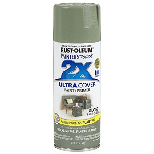 (Rust-Oleum 249094 Painter's Touch 2X Ultra Cover, 12-Ounce, Sage Green)
