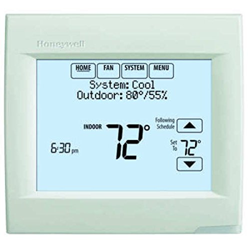 Honeywell TH8110R1008 Vision Pro 8000 Touch Screen Single Stage Thermostat with Red Link Technology - Honeywell 8000 Thermostat