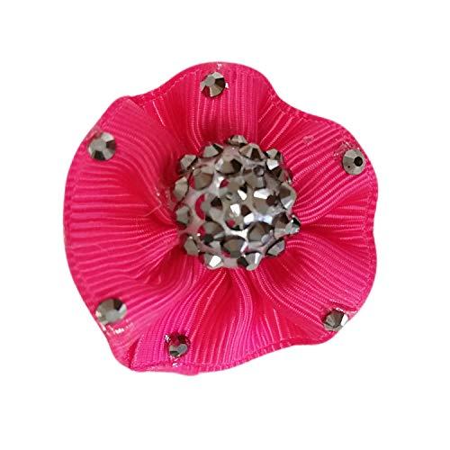 La Loria Damen 2 Schuhclips -Starlight- in Pink Schuhschmuck Brautschmuck Broschen