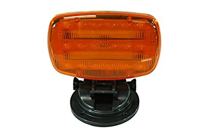 LED Strobe Light (battery powered) with Adjustable Locking Magnetic Base - AMBER LENS - SL-ALM-A