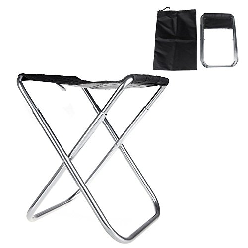 New Portable Folding Fold Aluminum Oxford Cloth Fishing Chair Outdoor Camping With Carry Bag (Black) (Glider Indoor Double Rocker)