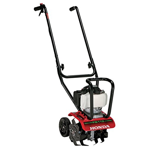 "Honda FG110 9"" 25 cc 4-Cycle Middle Tine Forward-Rotating Gas Mini Tiller-Cultivator"