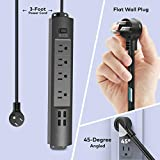 Power Strip with USB, TROND Surge Protector with 4