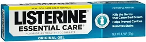 Listerine Essential Care Toothpaste Gel 4.20 oz (Pack of 4)