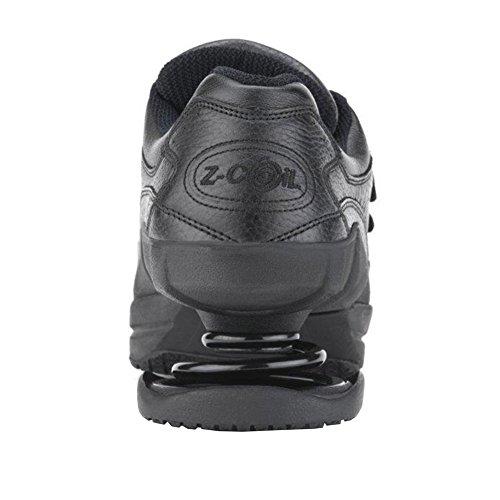 Z-CoiL Pain Relief Footwear Men's Legend Slip Resistant Velcro Black Leather Tennis Shoe Black free shipping tumblr outlet largest supplier cheap sale sast the cheapest online EFqo6vT