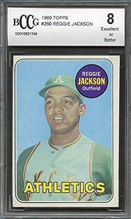 Amazon com: 1969 topps #260 REGGIE JACKSON oakland athletics