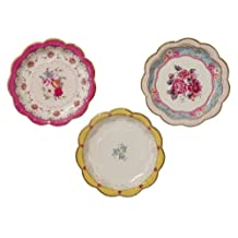 Talking Tables Truly Scrumptious Cake Plates for Parties (12 Pack) Colors May Vary
