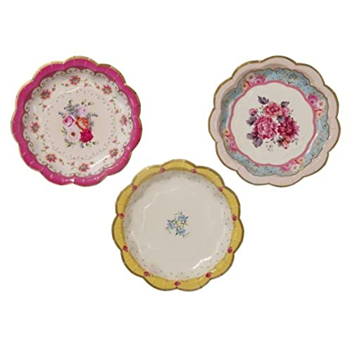 Talking Tables Truly Scrumptious Disposable Plates 12 count 6.5 inches for Tea Party or Birthday  sc 1 st  Amazon.com : paper plates decorative - pezcame.com