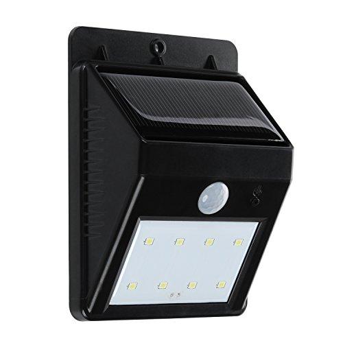 Solar Light, Turata Waterproof Security Motion Sensor Led Light for Garden Outdoor Fence Patio Deck Yard Home...