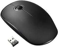 VicTsing Ratón Inalámbrico Portátil Delgado Mini, 2.4G con Receptor Nano,Tecla Silenciosa y Preciso, 1600 dpi, Ordenador Portátil/PC/Tableta/MacBook (Blanco)