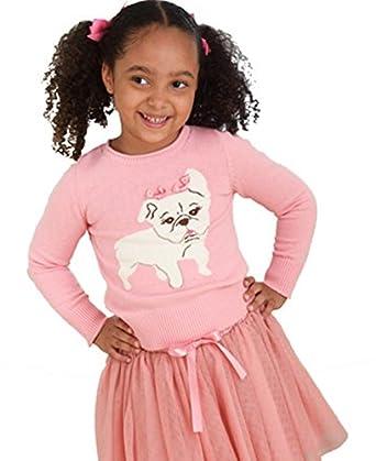 6cc921fb705ed Bonnie Jean Baby Toddler Girls Gorgeous Pink Bulldog Jumper + Tutu Skirt Leggings  Set 12 18 24 Months  Amazon.co.uk  Clothing
