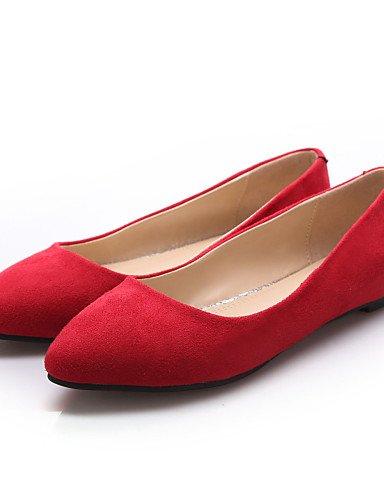 Flats 5 Casual 5 azul negro talón 5 cn37 plano us6 zapatos eu37 señaló las de rojo red Borgoña Toe mujeres PDX uk4 7 wq8W1C4W