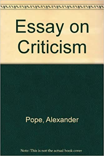 Essay on criticism alexander pope 9780854172887 amazon com books