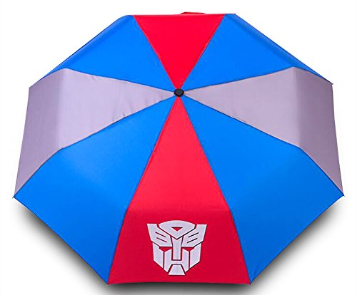 Finex Transformer Autobots Logo Multicolor Manual Tri-fold Folding Compact Travel Rain Umbrella UV Protection Strong Windproof