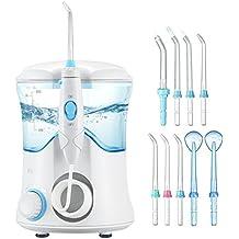 ElleSye Water Flosser, FDA Approved Dental Care Oral Irrigator, 9 Multifunctional Tips for Family Use, 600ml Reservoir Leak-Proof Dental Flosser, 10 Stepless Water Pressure Settings, 25-120psi