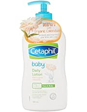 Cetaphil Baby Daily Lotion with Organic Calendula, 400 milliliters