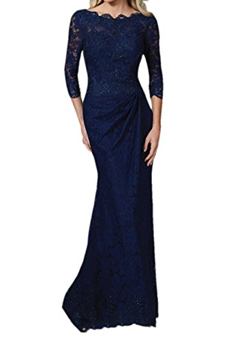 Frauen Abendkleid Lange Navy Blau SpitzeAppliques 4 Meerjungfrau Engerla Huelle 3 f0gfqd