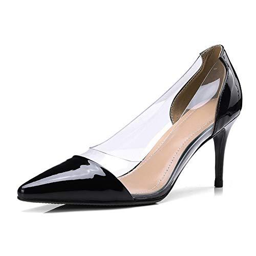 Noir 5 Compensées Sandales AdeeSu Noir SDC06082 Femme 36 qIz0fw1